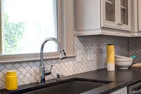 pretty arabesque tile in kitchen traditional with porcelain tile