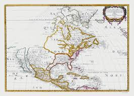 N America Map by Old North America Map North America Sanson 1650
