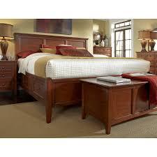Cedar Bedroom Furniture A America Westlake Solid Cherry Brown Storage Bedroom Set The
