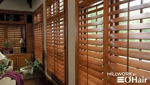 custom wood plantation shutters and interior window shutters in