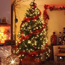 decorated christmas tree garlands u2013 happy holidays