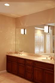brown striped pattern solid wood large bathroom vanity with