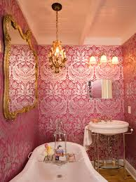 Wallpaper In Bathroom Ideas Reasons To Love Retro Pink Tiled Bathrooms Hgtv U0027s Decorating