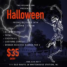pre halloween party halloween costume contest and cocktail party 2016 the ryland inn