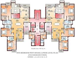 Massive House Plans by 3550 Sq Ft 4 Bhk 5t Apartment For Sale In Parsvnath La Tropicana