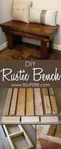 Diy Reclaimed Wood Storage Bench by Best 25 Rustic Wood Bench Ideas On Pinterest Long Bench Diy