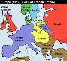 Map of french revolution in 1812