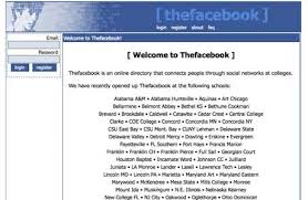 How    popular websites looked when they launched   Telegraph    facebook com   launched in