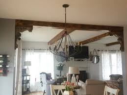 Interior Design Kitchen Living Room Maybe I Can Do Corbels And Wood Beams In The Kitchen Living Room