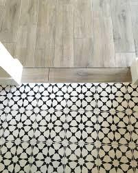 vanessa matsalla wood to cement tile transition bathroom