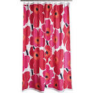 Marimekko Unikko Red Shower Curtain in Bed and Bath | Crate and Barrel