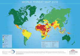 Pakistan On The Map World Threat Map 2016 U2013 Riskmap Result Group Gmbh