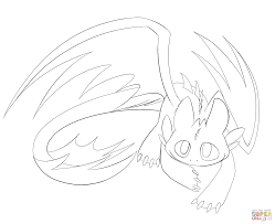 cute night fury dragon coloring page free printable coloring pages