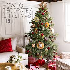 Christmas Home Decorations Pictures How To Decorate A Christmas Tree From Better Homes U0026 Gardens