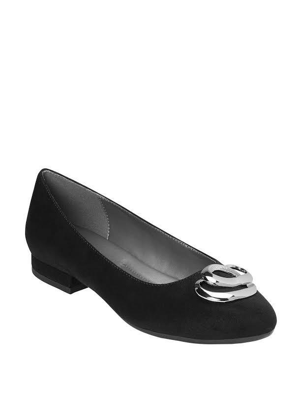 Aerosoles Out Of Pocket Ballet Flat,Black Fabric,7.5