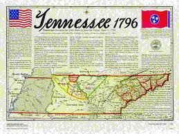 State Of Tennessee Map by Statehood Maps
