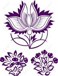 Indian Flower Design Flower Pattern Design Royalty Free Cliparts Vectors And Stock