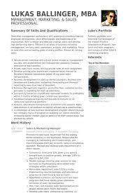 Sample Of Sales Manager Resume by Sales U0026 Marketing Manager Resume Samples Visualcv Resume Samples