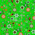 Wall Mural funky flowers pattern - shape • PIXERSIZE.
