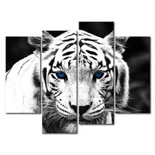 Kitchen Wall Pictures Amazon Com Black U0026 White 4 Panel Wall Art Painting Blue Eyed