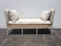 Linen Daybed Country French Provincial Daybed Wood Woven France Linen Lounge