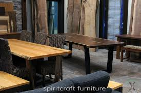 live edge table and furniture showroom in the chicago area
