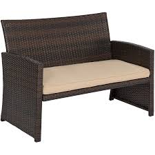 Best Wicker Patio Furniture Amazon Com Best Choice Products 4pc Wicker Outdoor Patio