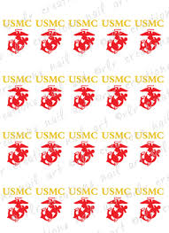 20 us marines ega logo water slide nail decals marines eagle
