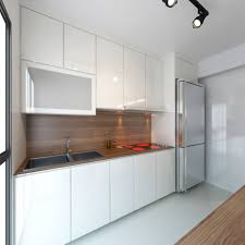 Kitchen Interior Photo Hdb 4 Room With Modern Bright And Airy Feel Interior Design