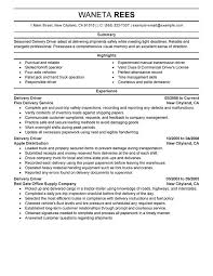 Examples Of Professional Summary For Resume by Unforgettable Delivery Driver Resume Examples To Stand Out