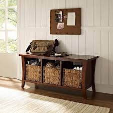 White Entryway Table by Amazon Com Crosley Furniture Wallis Entryway Storage Bench