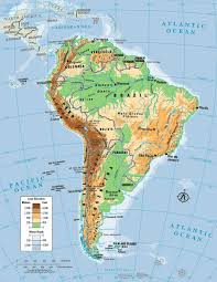 Latin America Map Labeled by Latin America Physical Map Quiz For Roundtripticket Me