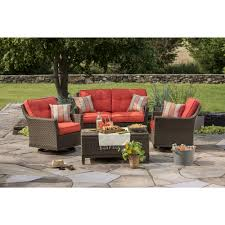 Outdoor Living Furniture by Berkley Jensen Antigua 4 Piece Wicker Patio Set Outdoor Living