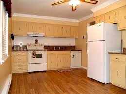 modern small kitchen design ideas with yellow wall paint