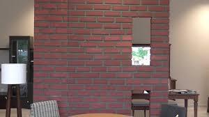 Fake Exposed Brick Wall Diy Fake Brick Wall By Recycled Material Mdf Youtube