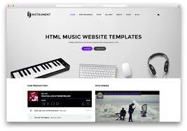 Free HTML  Website Templates Music   fashion industry resume happytom co