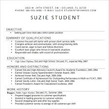 Breakupus Pleasing Resume Examples For High School Students Canada