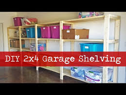 Build Wood Garage Shelves by Diy Garage Shelving Youtube