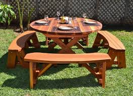 Wooden Folding Picnic Table Plans by Best 25 Round Picnic Table Ideas On Pinterest Picnic Tables