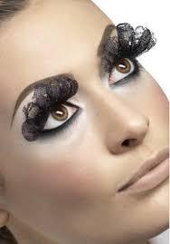 buy ladies long black lace false eyelashes drag queen halloween