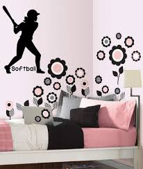 compare prices on softball wall decals online shopping buy low softball girls vinyl wall decal sticker decor sports girls room quote players 13 5x23inch china
