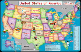 Political Map Of United States And Canada by Usa Map Bing Images