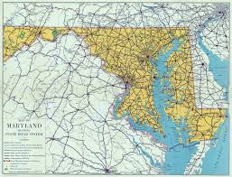 Map Of The Usa by Large Scale Detailed Old Road Sysytem Map Of Maryland State 1937