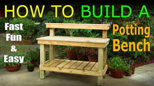 Plans For Building A Wooden Workbench by Diy How To Build A Potting Bench Work Bench Official Video