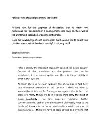 capital punishment against essay