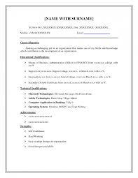 Blank Resume Examples Absolutely Design Easy Resume 5 High Student Resume