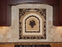 Kitchen Backsplash Mural Stone by Kitchen Kitchen Mosaic Tile Backsplash Grapes Stone Medallions
