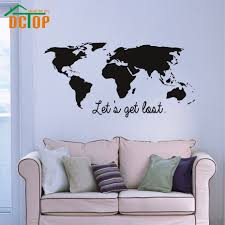popular vinyl adhesive stickers buy cheap vinyl adhesive stickers dctop let s get lost wall stickers quotes home decor world map wall decals vinyl adhesive stickers