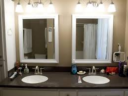 bathroom rectangular led lighted bathroom mirror ideas cool