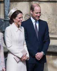 kate middleton curtsies to the queen during easter service with